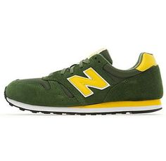new product e36be 89dcd Sale 2015 New Style Mens New Balance 373 Classic Dark Green, Yellow Running  Shoes Outlet