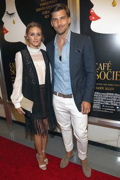 13 July 2016 - Olivia Palermo and Johannes Huebl kept it casual for the New York event.   - HarpersBAZAAR.co.uk