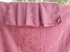 Gorgeous Vintage Dusty Rose Mauve Tablecloth Table Cloth & 10 Napkins 82 x 58 Set by SweetTeaTreasures on Etsy Dusty Rose, Damask, Mauve, Runners, All Things, Napkins, Burgundy, Two Piece Skirt Set, Satin