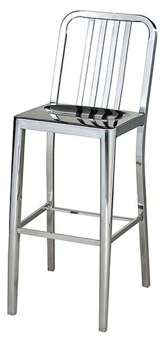 Our polished stainless steel Tempo collection includes a bar stool, counter stool and dining chair, to suit any surface. Go ahead and make a statement! Counter: x x 26