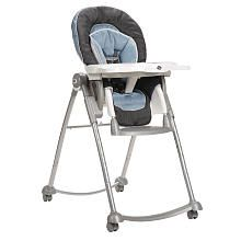 Quite frankly this high chair is amazing! It reclines at different levels, so if baby falls asleep you can leave him/her in the chair. It rolls around effortlessly, so you can take it anywhere you are busy doing things. The height also adjusts so you can keep it high, or sit on the floor and lower it as well. Highly recomend this high chair!! Watch the video on the site... it shows the details.