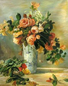 P-A Renoir Still Life with Roses- Serious inspiration here. Description from pinterest.com. I searched for this on bing.com/images