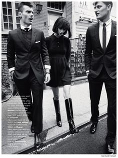 Vladimir Ivanov + Demy Matzen Model 60s Inspired Fashions for GQ Australia image Mod Styles Fashion Editorial GQ Australia 004
