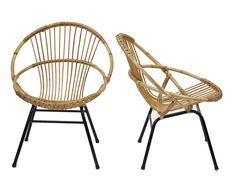 """Fauteuils années 50 """"Balagne"""". http://www.rien-a-cirer.fr/fr/chaises-et-fauteuils/226-fauteuil-en-rotin-balagne.html"""