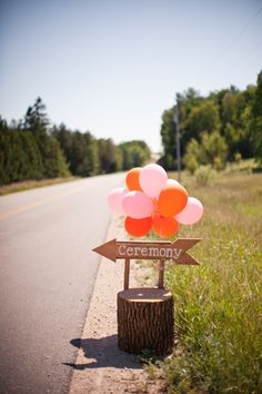 ceremony sign + balloons // photo by m three studio