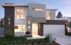 full size of modern house plans ideas houses design bungalow new homes decorating gorgeous i villa Modern Exterior, Exterior Colors, Exterior Design, Grey Exterior, Storey Homes, Facade House, House Facades, Modern House Design, Home Fashion