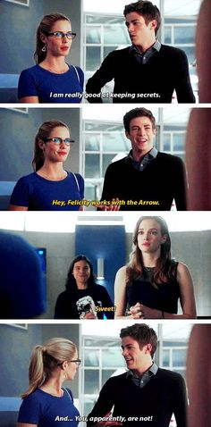 The Flash - Felicity Smoak, Barry Allen, Cailitn Snow and cisco #1.04 #Season1 #GoingRogue