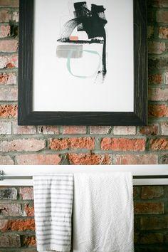 PROGRESS REPORT! one room challenge // loft bathroom, week 4 // jojotastic.com #oneroomchallenge @minted @coyuchi