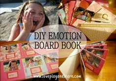 DIY Easy Emotions Board Book. Big Hit with Toddlers!