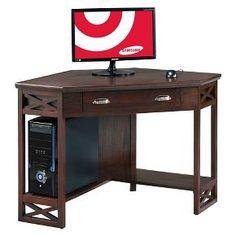 Leick Furniture Corner Desk - Chocolate Cherry