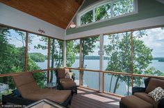 Plan #734-D - The Gilchrist: Relax on this screened porch with excellent views. http://www.dongardner.com/plan_details.aspx?pid=546. #Screened #Porch #Outdoors