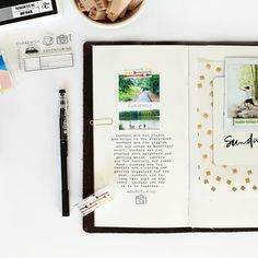 Football + Sunday #projectlife = the perfect end to a great weekend! Decided to mix things up even more this month and use a #travelersnotebook as my PL album! Hoping this works out like I'm picturing it in my head. We shall see!  Coming soon to the @studio_calico blog! #studiocalico