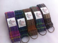 Harris tweed key ring key chain made in Scotland by Scotswhahae