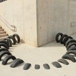 Pneumàtic's Salvaged Tire Installations Playfully Interact With Barcelona's Urban Architecture