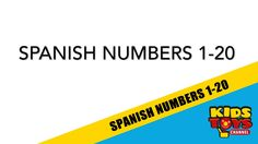 Simple video teaching you spanish numbers 1-20. Easily learn to count in spanish with this quick video.