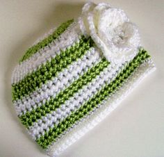 Baby girl beanie PERFECT! I have to get my Mom or Aunt to make this :O)