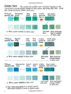 Great watercolour suggestions for painting seascapes.