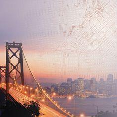 Paper House Productions - San Francisco Collection - 12 x 12 Paper - Bay Bridge at Scrapbook.com $0.69