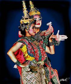 Tajskie tancerki.     #Tajlandia #Thailand #Azja #travel #podroze #plaza #egzotyka #wakacje