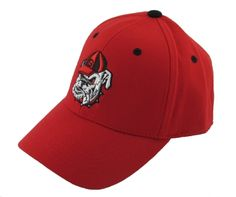 66afd6679e3 UGA Hat Red One Fit with Bulldog
