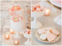 Wedding cakes, wedding biscuits, pink wedding details, fine art wedding, almonry barn, baking chick cakes, bowtie and belle photography