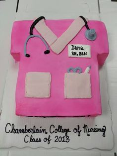 Scrub top,  nursing grad cake I made for my boyfriend's niece