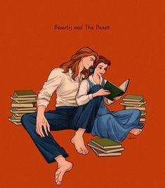 Belle reading books to Prince Adam Disney Cartoons, Disney Pixar, Film Disney, Disney Couples, Disney And Dreamworks, Disney Animation, Disney Magic, Disney Characters, Non Disney Princesses