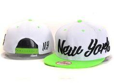 Casquette NY New York Yankees MLB Snapback Blanc Vert Casquette New Era Pas Cher