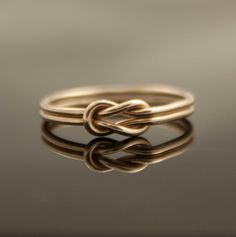 Solid 14K Gold Infinity knot ring