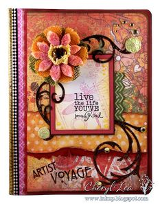 Altered Journal by Cheryl Lea using Verve Stamps.  #vervestamps