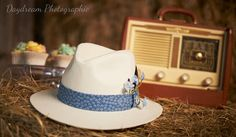 fedora fleuri  chapeau homme champetre  par DoucefleurDesign