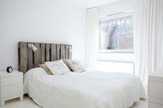 piso de estilo nórdico Decorar con palets   cabecero cama mesa de centro y escritorio decoración vivienda vacacional decoración reciclaje pa...