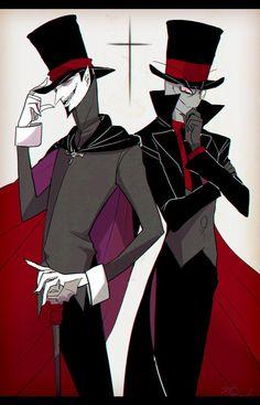 "Vampair x Villainous - Duke and Black Hat (by Daria Cohen and Alan Ituriel) ""MY LIFE IS COMPLETE"" Comic Kunst, Cartoon Kunst, Cartoon Drawings, Cartoon Art, Cartoon Crossovers, Cartoon Memes, Cartoon Characters, Cartoon Network, Comic Collage"