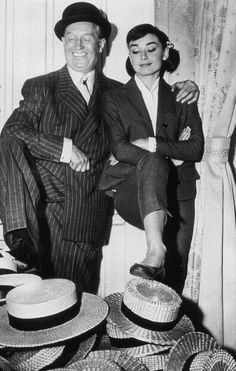 Audrey Hepburn and Maurice Chevalier (Love in the Afternoon)
