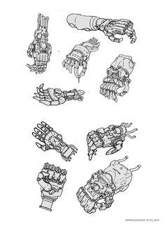 ArtStation - Sketch for fun, Dipo Muh. Robot Concept Art, Weapon Concept Art, Armor Concept, Character Concept, Character Art, Robots Drawing, Arte Robot, Arte Cyberpunk, Cyberpunk Character