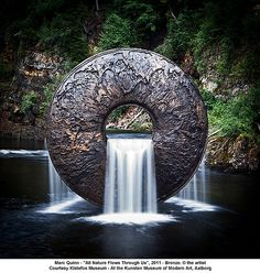 """""""All Nature Flows Through Us"""" Bronze Sculpture and Water Feature by Marc Quinn"""
