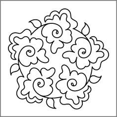 Topiary Hearts Block - don't forget that quilting designs like this make GREAT hand embroidery patterns, especially for red work. Quilting Stencils, Quilting Templates, Longarm Quilting, Free Motion Quilting, Quilting Tutorials, Machine Quilting Patterns, Embroidery Patterns, Hand Embroidery, Rug Hooking Patterns