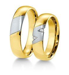 Breuning Trouwringen | Inspiration collectie gouden ringen | 5,5mm briljant 0.06ct verkrijgbaar in 8,14 en 18 karaat | 48041650 / 48041660 OOK in wit geel en rood goud verkrijgbaar of in 2 kleuren goud #trouwringen #breuning