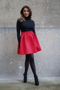 Skirt Mini, Women's Mini Skirts, Red Skirts, Casual Skirts, Casual Outfits, Cute Outfits, Summer Skirts, Frilly Skirt, Pleated Skirt
