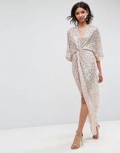 9e74f776 ASOS Sequin Kimono Maxi Dress| Asos $118.43 BUY the LOOK: shoes here ->