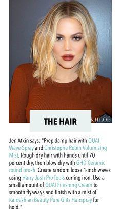 Khloe Kardashian hair by Jen Atkin