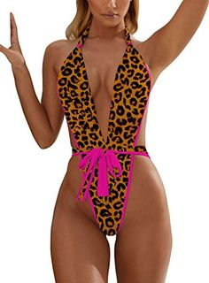 1b415be10821e ALLureLove #Swimsuit Bathing Suits #Women #Sexy Monokini Deep V One Piece  Semi Thong