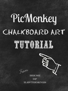 Easy to follow tutorial on how to use PicMonkey to create chalkboard printables on your computer!   Also includes 10 FREE fonts that look gr...