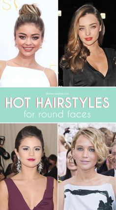 "Round-faced girls, read on. We've ""rounded"" up the best hairstyles for round faces, with celebrity examples to boot. Happy hairstyling!"