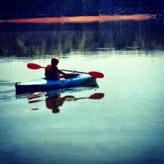 kayaking at lake hartwell for spring break. amazing.