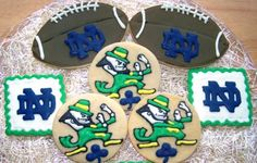 Notre Dame Fighting Irish Sugar Cookies  1 Dozen by KimbosCookies, $48.00