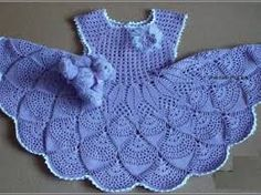 Image result for crochet baby frock with diagram