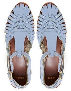 Enlarge ASOS FRANCESCA Leather Flat Sandals