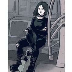 """26k Likes, 219 Comments - Gabriel Picolo (@_picolo) on Instagram: """"""""Sure, you're goth, but are you Raven riding the subway with her raven goth?"""" #raven #teentitans…"""""""