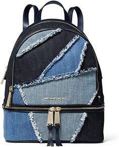 Shop a great selection of MICHAEL Michael Kors Rhea Zip Medium Backpack (Frayed Denim). Find new offer and Similar products for MICHAEL Michael Kors Rhea Zip Medium Backpack (Frayed Denim). Pink Michael Kors Bag, Michael Kors Backpack, Handbags Michael Kors, Denim Backpack, Denim Bag, Fashion Backpack, Diaper Backpack, Travel Backpack, Leather Backpack